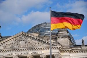 German flag - the German people